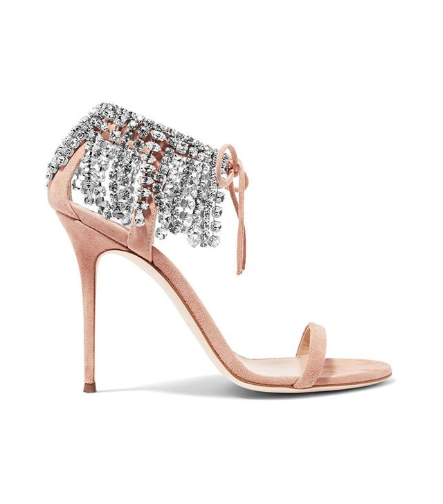 Giuseppe Zanotti Carrie Crystal-Embellished Suede Sandals