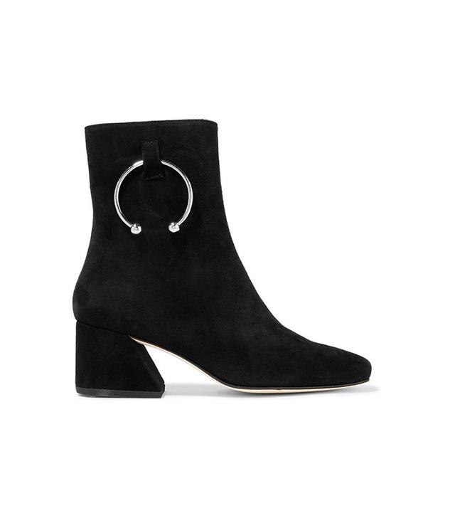 Dorateymur Nizip Embellished Suede Ankle Boots