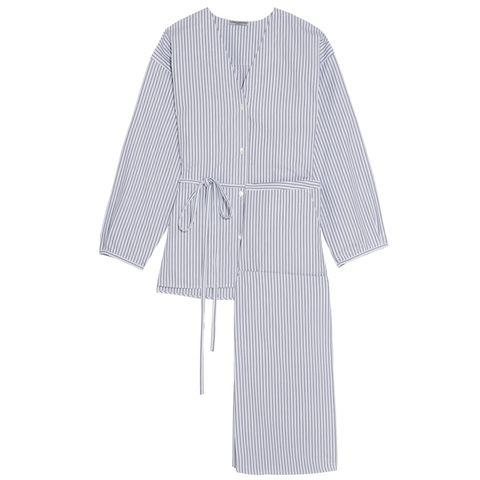 Fillide striped cotton pajama set
