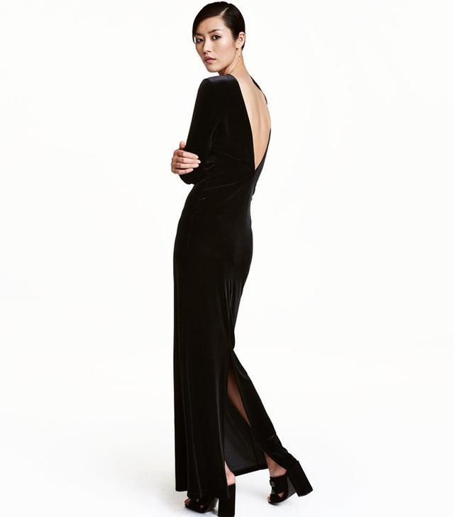 H&M Velvet Maxi Dress
