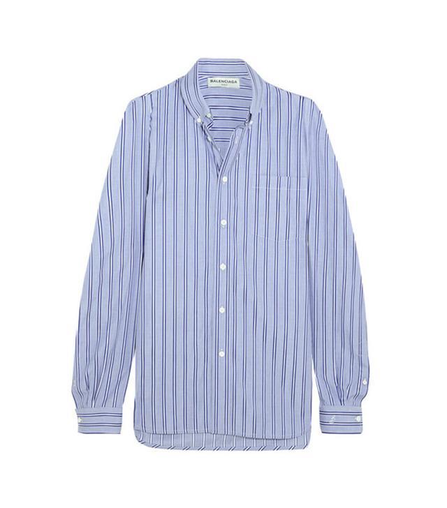 Balenciaga Striped Cotton-poplin Shirt