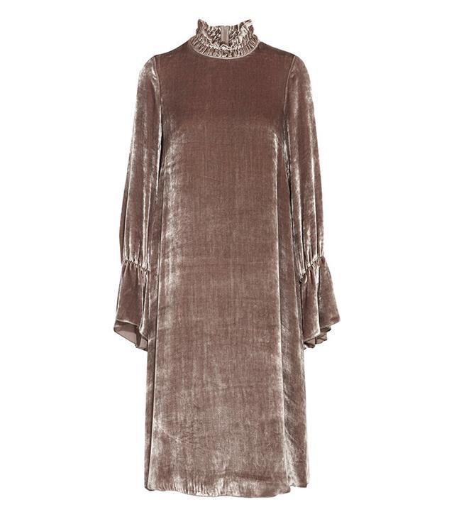 See by Chloé Smocked Velvet Dress