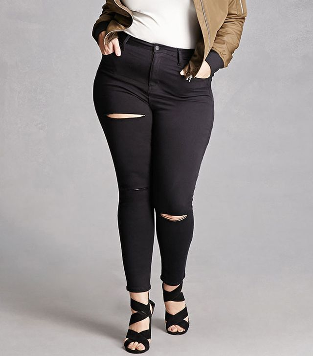 Forever 21 Plus Size Mid-Rise Skinny Jeans