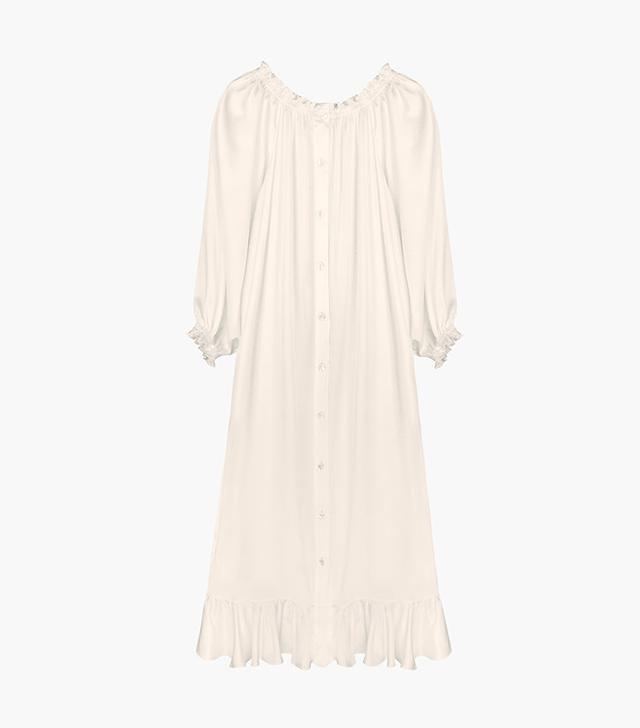 Sleeper Bridal Off-the-shoulder Silk Dress