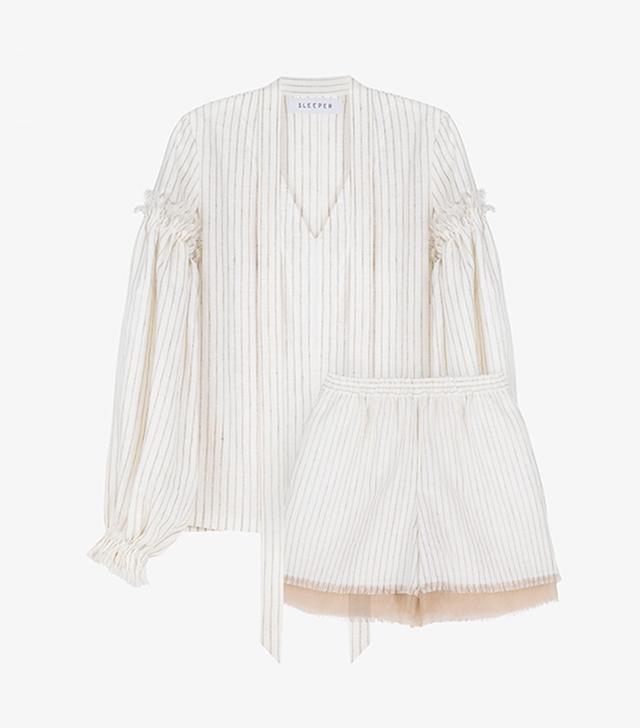 Sleeper Ankara Stripes Linen Suit