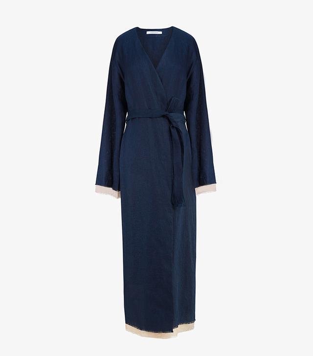 Sleeper Bosporus Navy Linen Robe