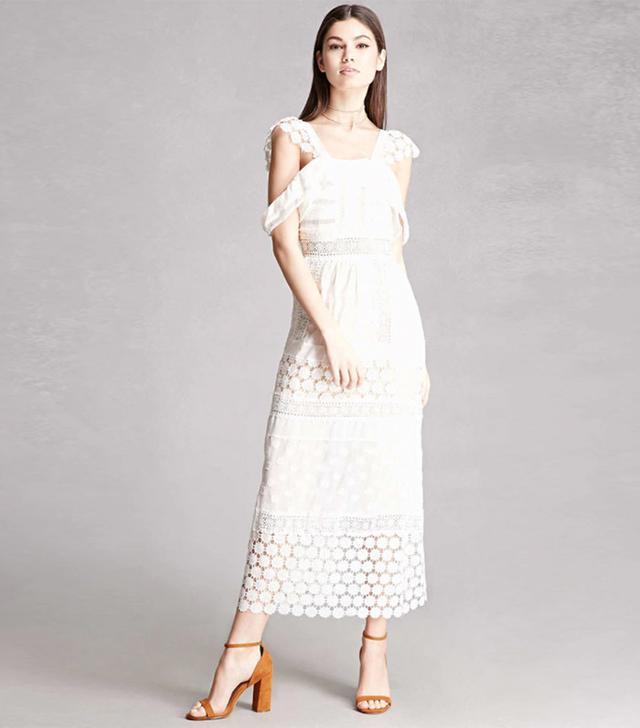 Forever 21 Open-Shoulder Maxi Dress