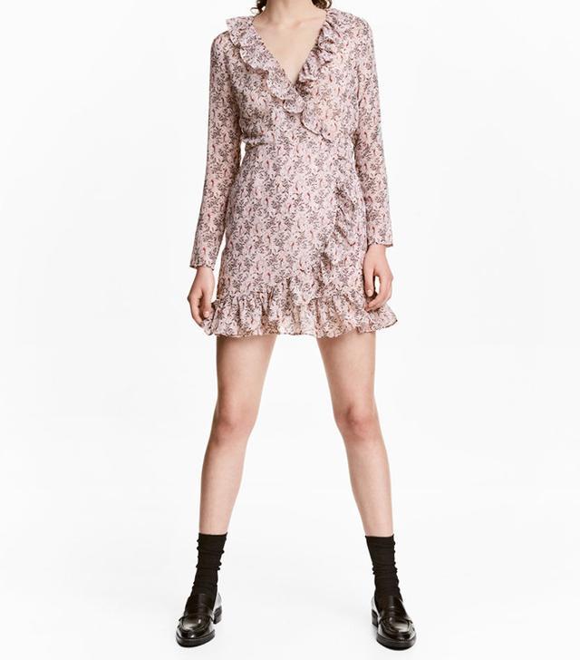 H&M Ruffled Wrap Dress