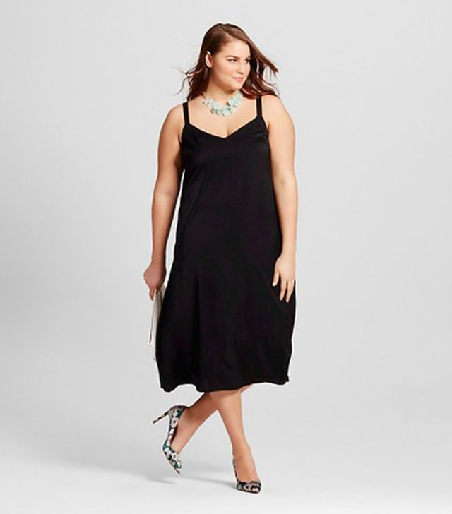 Who What Wear Collection Slip Dress With Contrast Straps