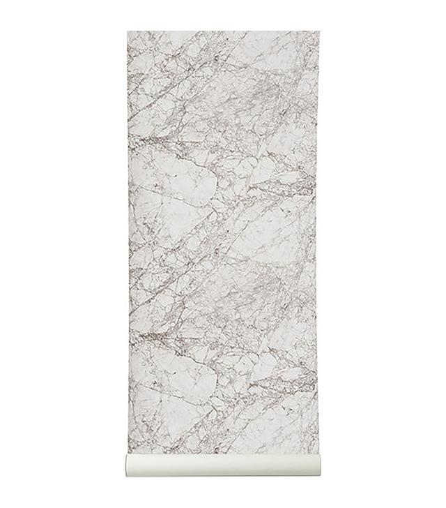 Murals Wallpaper Textured White Marble Wall Mural