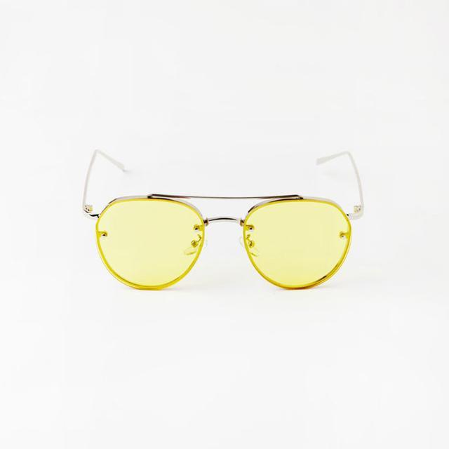 Reliquia Yellow Aviator Sunglasses