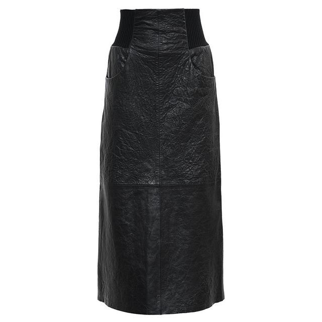 KITX Cinch Rib Leather Skirt