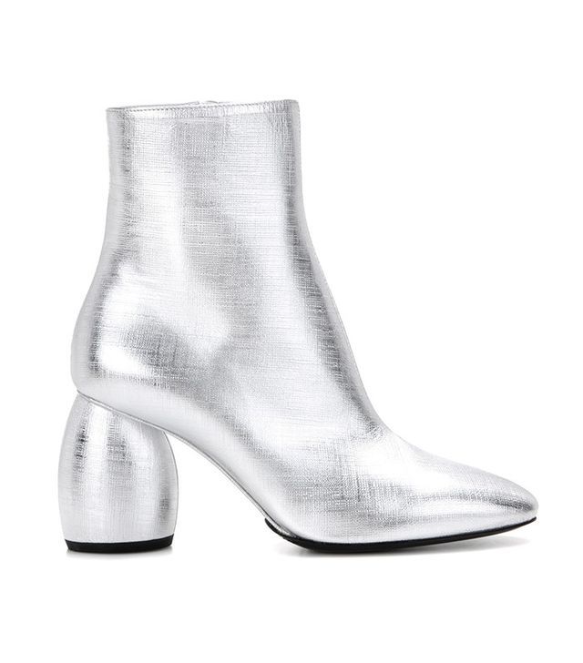 Dries Van Noten Metallic Ankle Boots