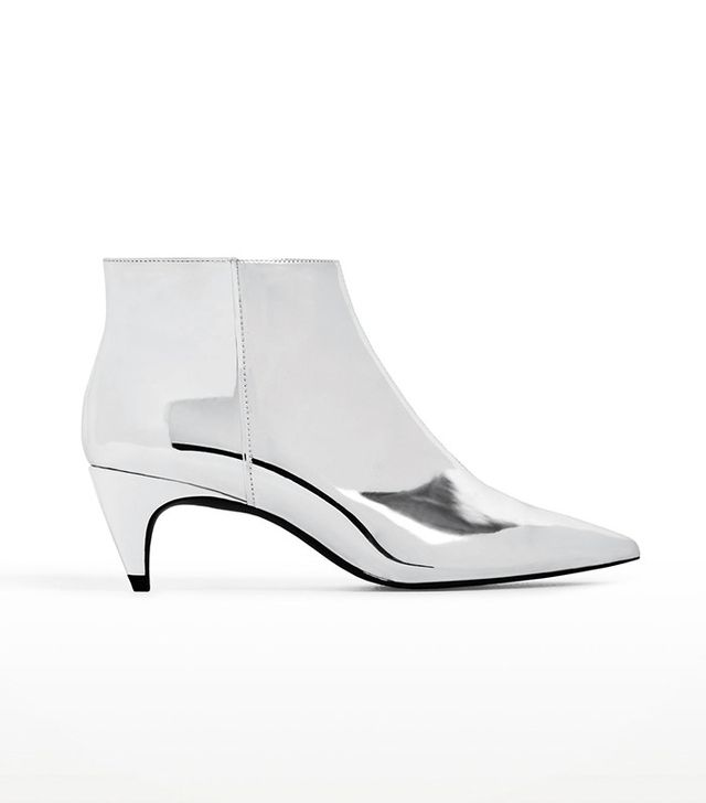 Zara Silver Ankle Boots