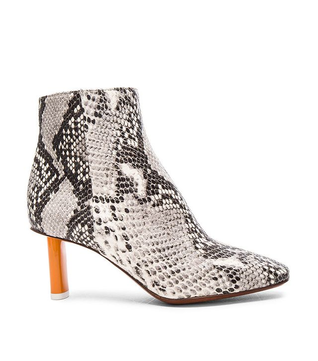 Vetements Python Embossed Ankle Boots