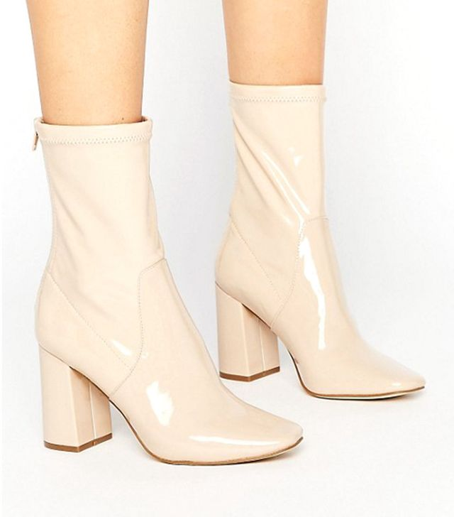 ASOS New Look Patent Ankle Boots