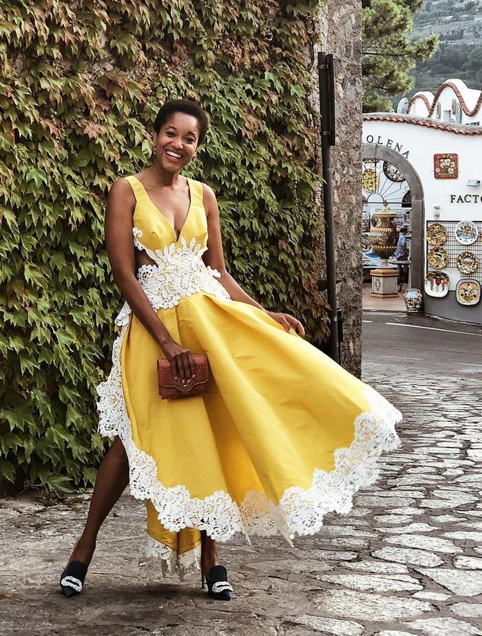 Best Bridesmaid Dresses: Tamu McPherson in a gorgeous dress.