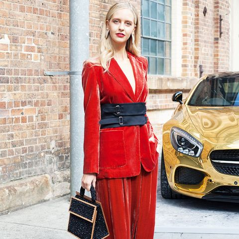 Colour That Suits All Skin Tones: Red velvet suit