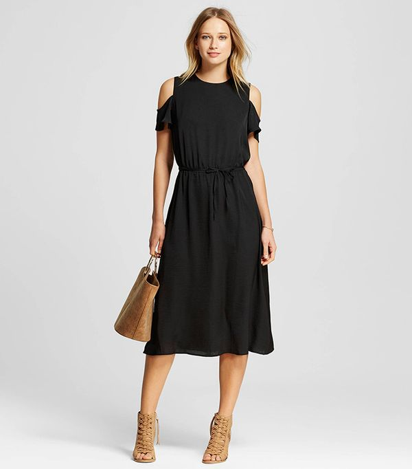 Who What Wear Short Sleeve Cold Shoulder Dress