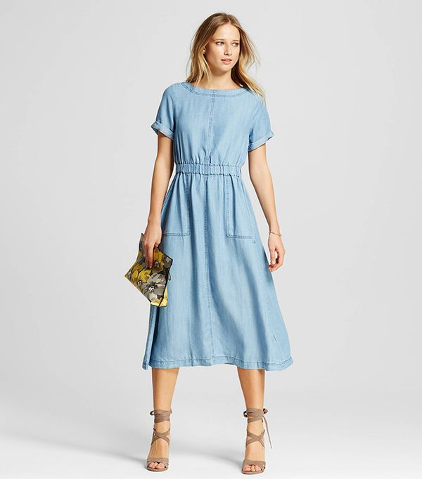 Who What Wear Short Sleeve Midi Dress with Pockets