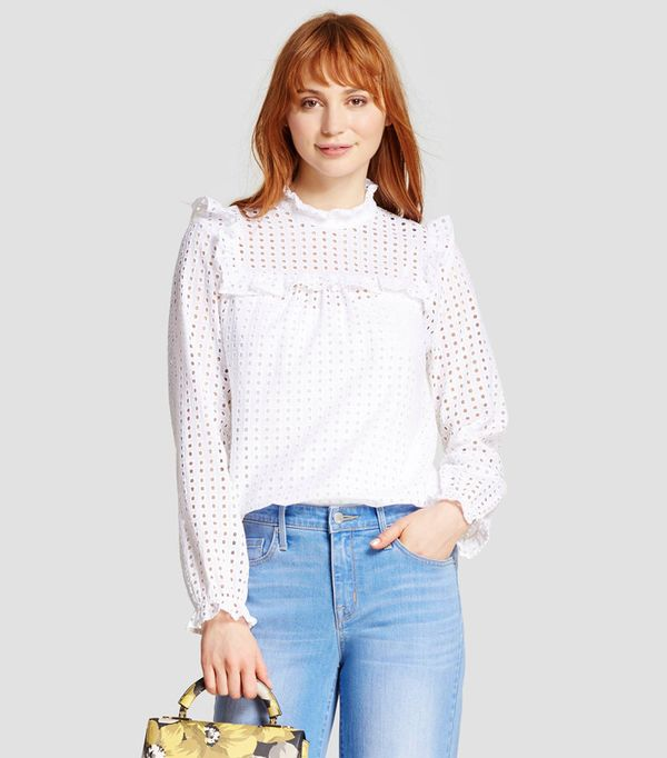 Who What Wear Eyelet Pioneer Shirt
