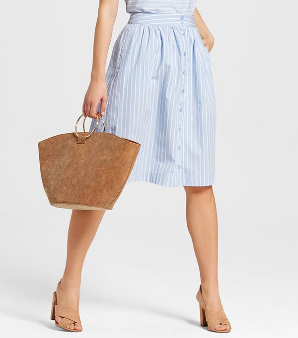 Who What Wear Broadcloth Skirt