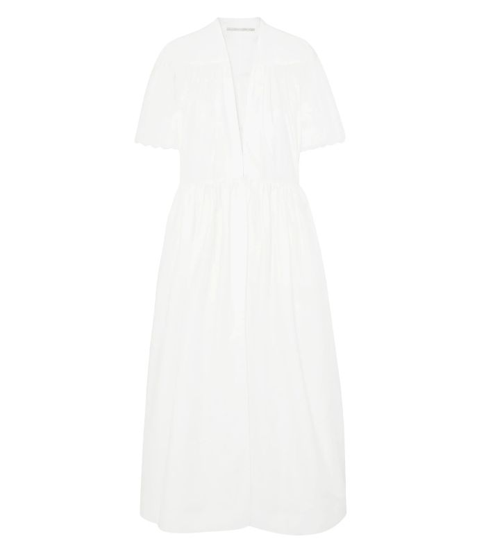 Stella McCartney Embroidered Cotton-Poplin Midi Dress