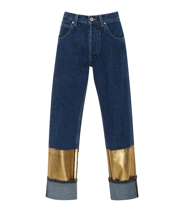 Loewe Gold-Dipped Mid-Rise Jeans