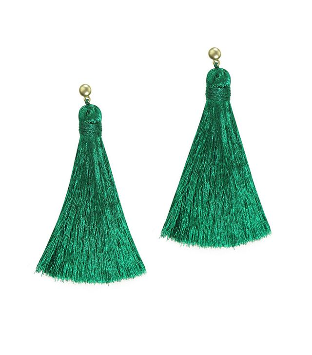 Hart Electric Jade Tassle Earrings