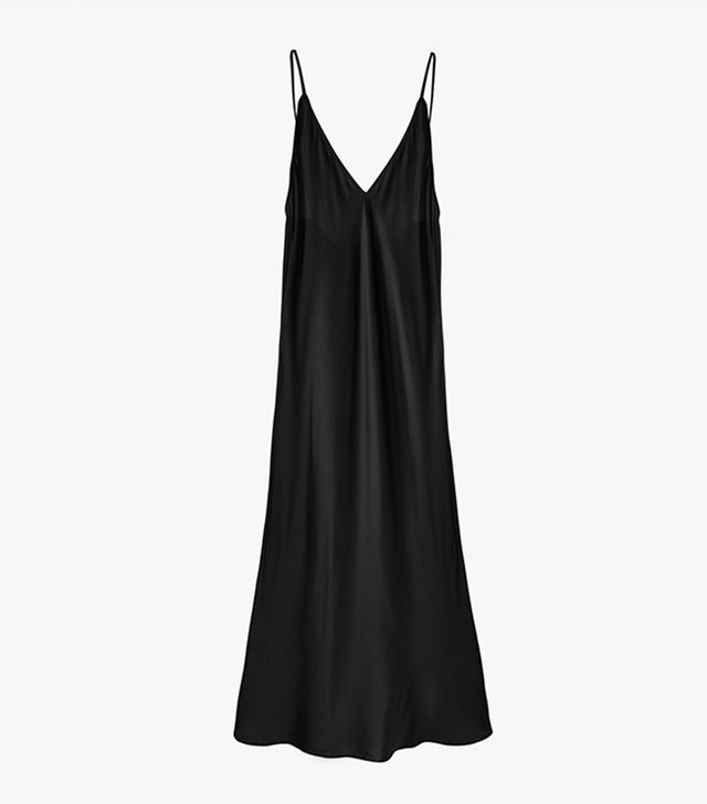 Sleeper Kate Black Slip Silk Dress