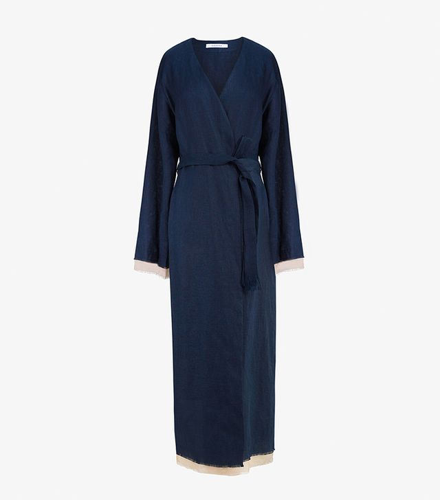 Sleeper Bosporus Navy Linen Robe