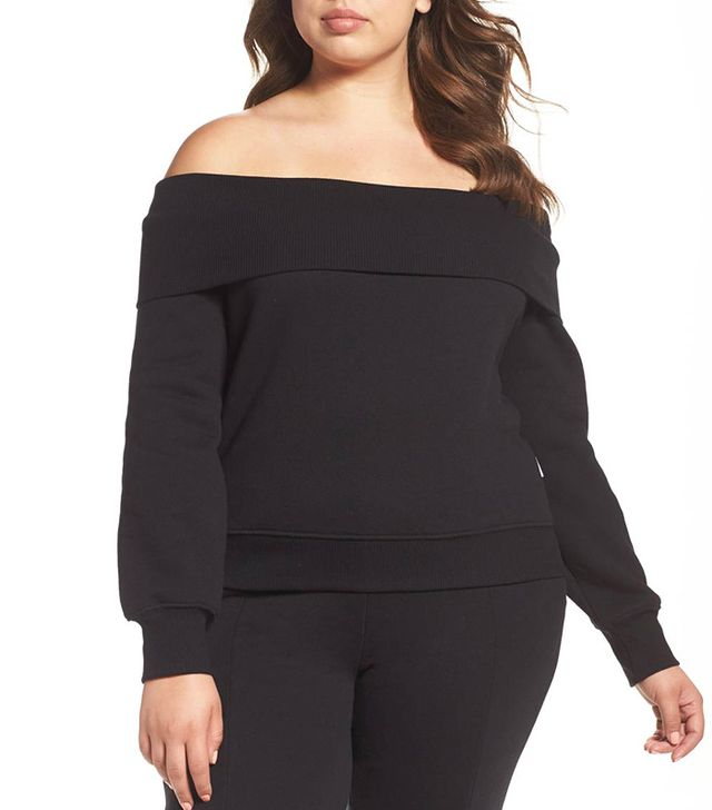 Pixie Market Check Off-the-Shoulder Bow Tie Top