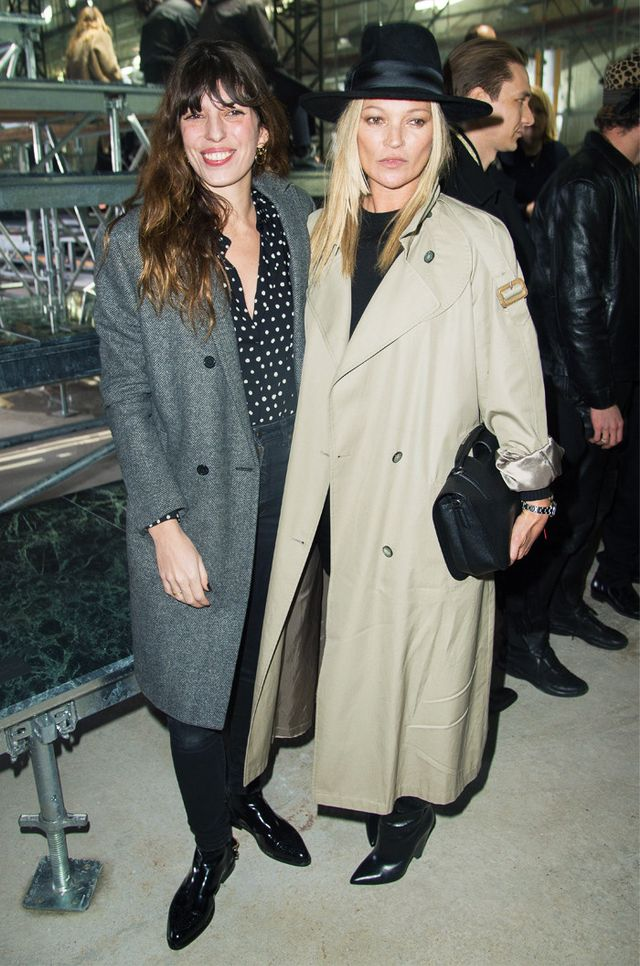 Kate Moss trench coat trilby