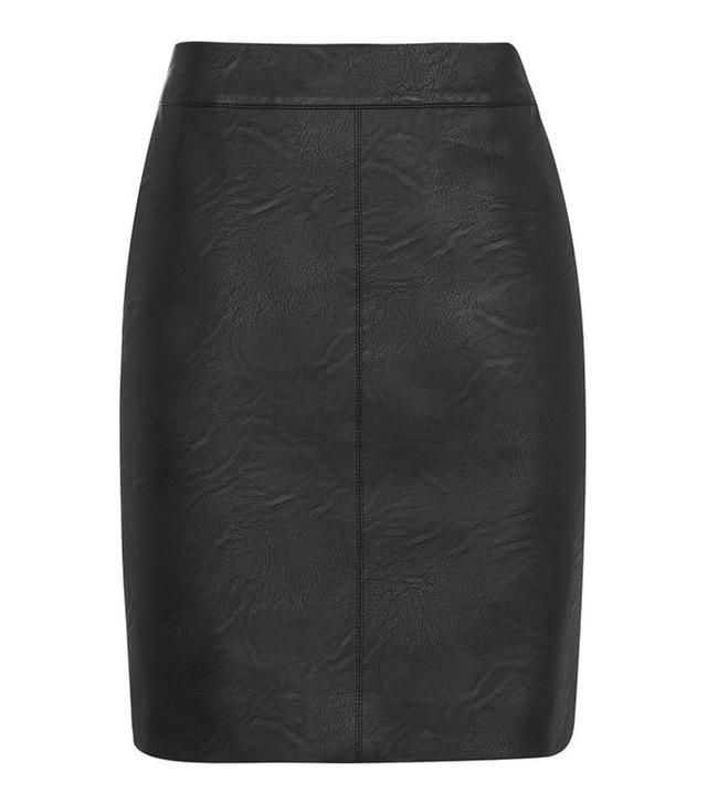Topshop PU Short Pencil Skirt