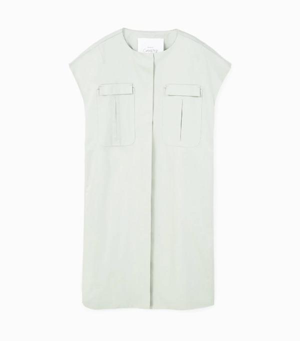Mango sustainable collection: Green waistcoat