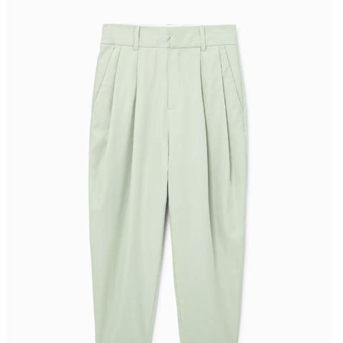 Ramie-Blend Suit Trousers