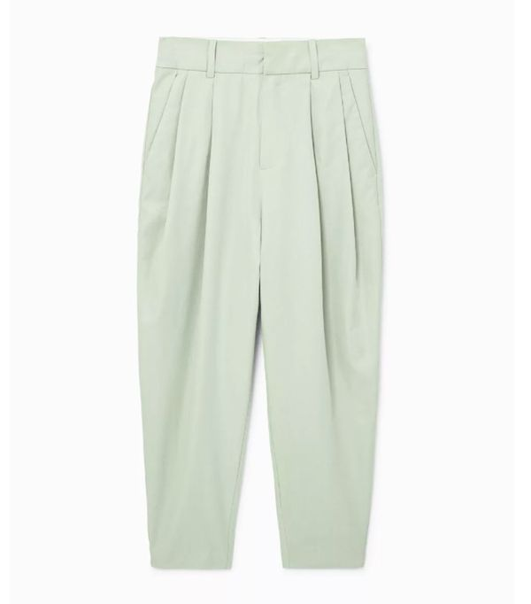 Mango sustainable collection: Cotton green suit trousers