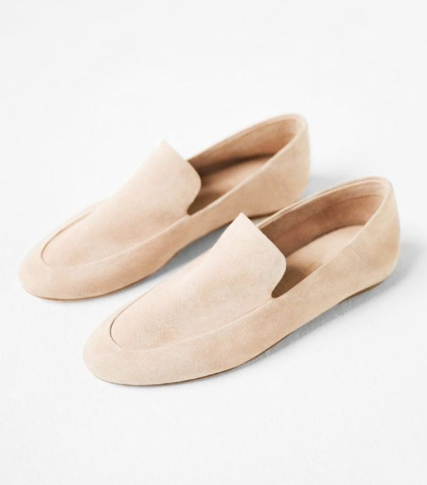 Mango sustainable collection: Leather moccasins