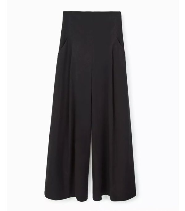 Mango sustainable collection: Wide leg palazzo trousers