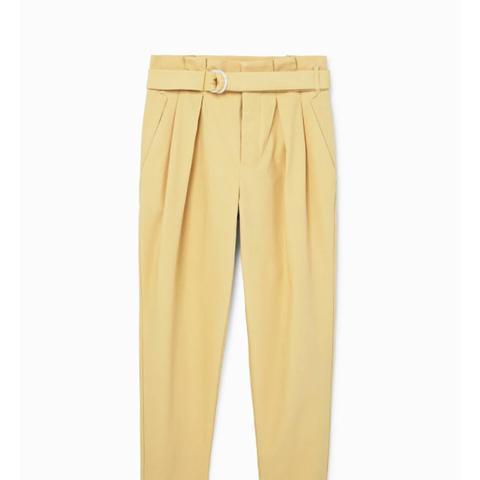 Belt Cotton-Blend Trousers