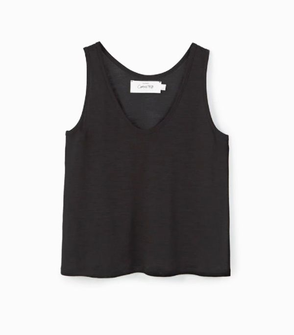 Mango sustainable collection: Black T Shirt