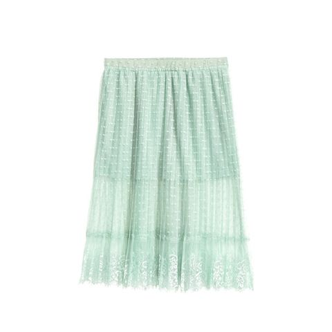 Knee-length Lace Skirt