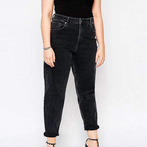 Farleigh Mom Jeans in Washed Black