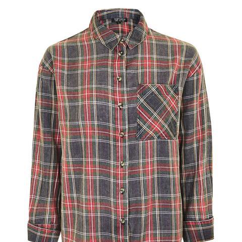 Washed Tartan Check Shirt