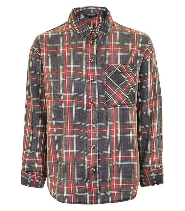 How to Wear Dr. Martens: Topshop Tartan shirt