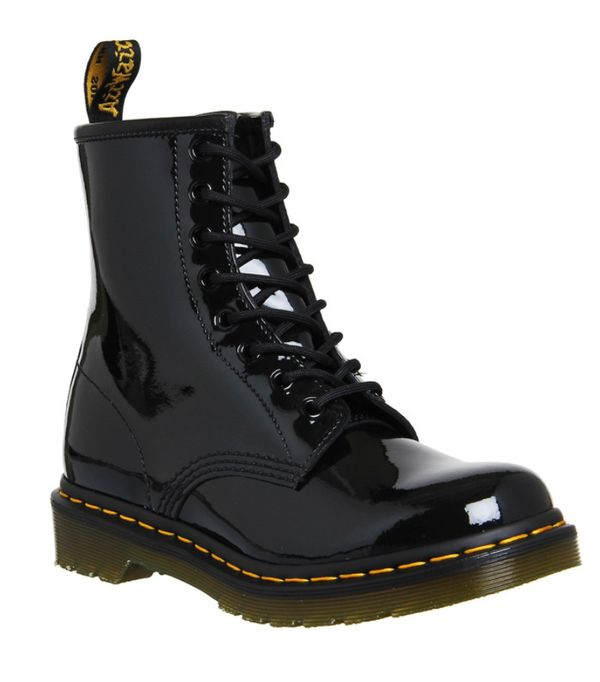 How to Wear Dr. Martens: Patent 8 eyelet boots