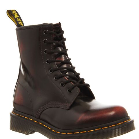 8 Eyelet Lace Up Boots Cherry Red Arcadia