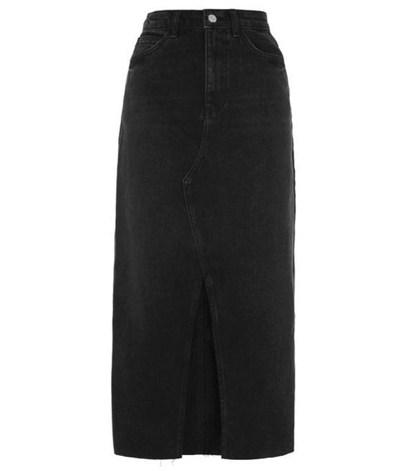 How to Wear Dr. Martens: Blue Denim Skirt