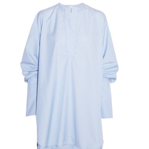 Oversized Striped Cotton-Poplin Shirt