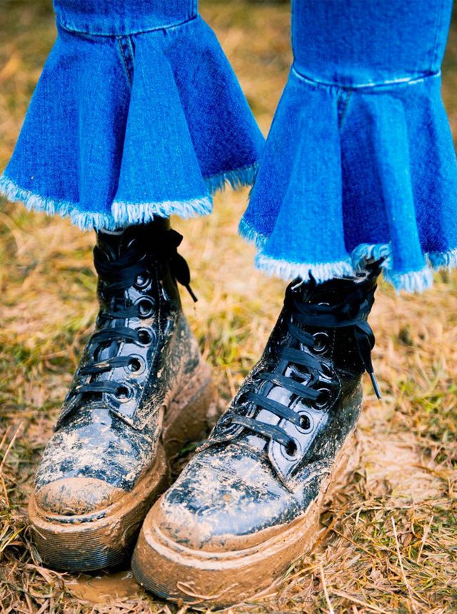 How to Wear Dr. Martens: At a music festival